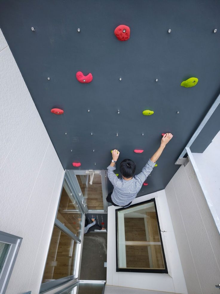Your own climbing wall, 3way House by Naf Architect #fun #design