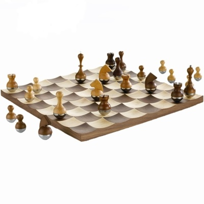 As well as even very sophisticated ones.  | On the picture: Wobble Chess set.