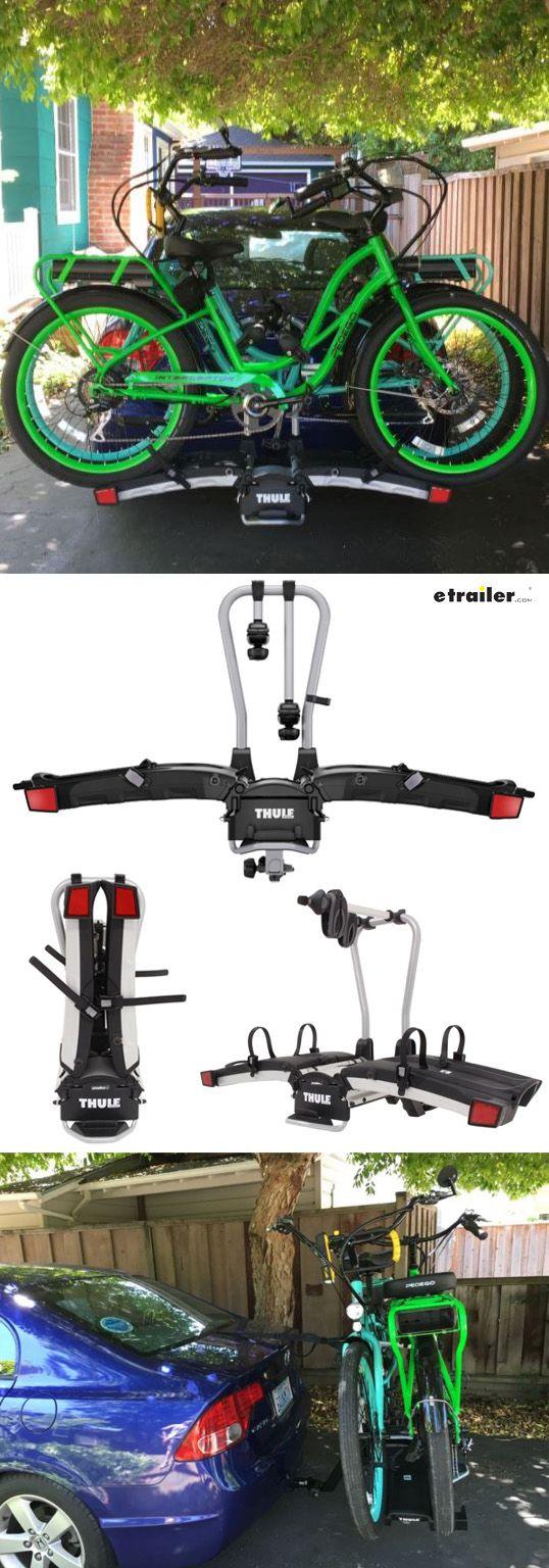 Thule easyfold 2 bike platform rack 1 1 4 and 2 hitches frame mount tilting
