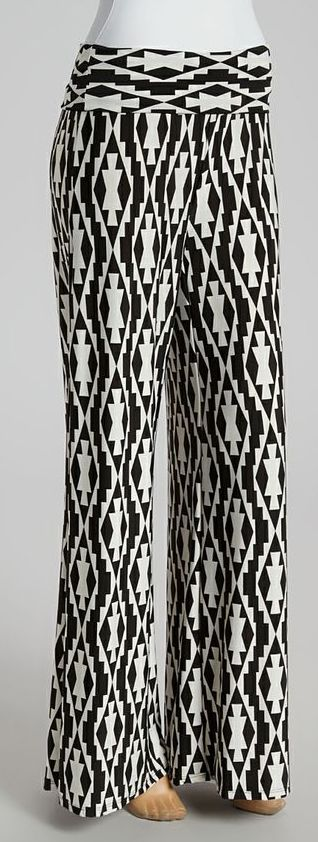 Black and White Geo Aztec Pants