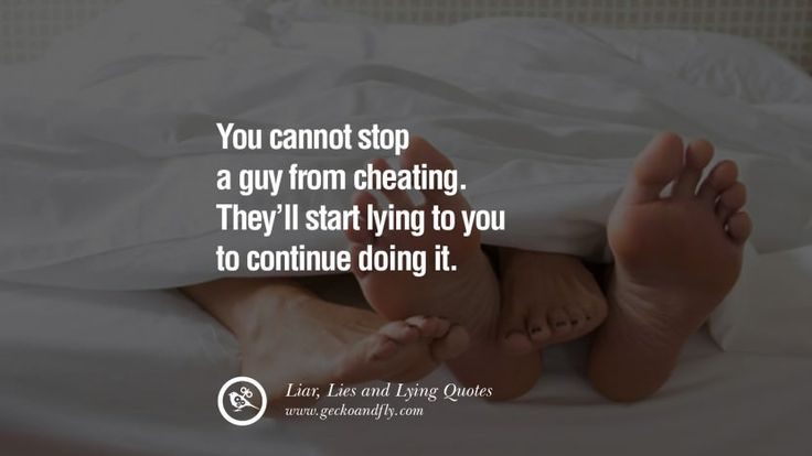 how to know when a guy is lying