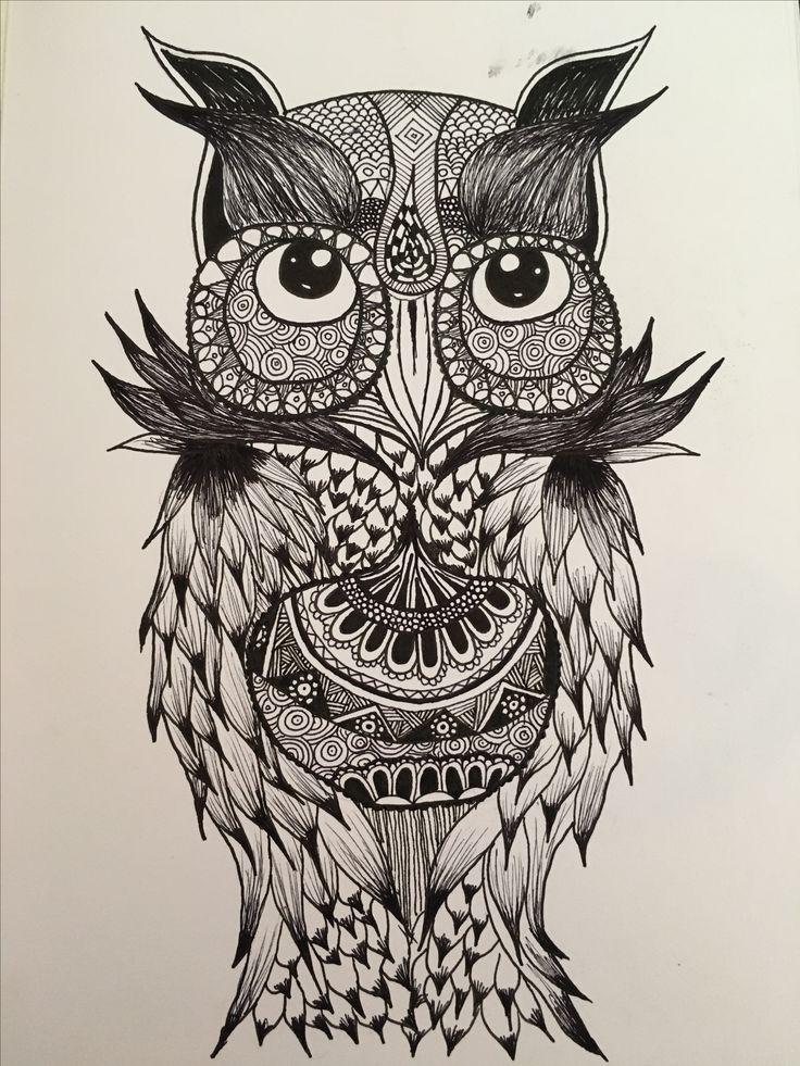Black ink owl 16.8.16