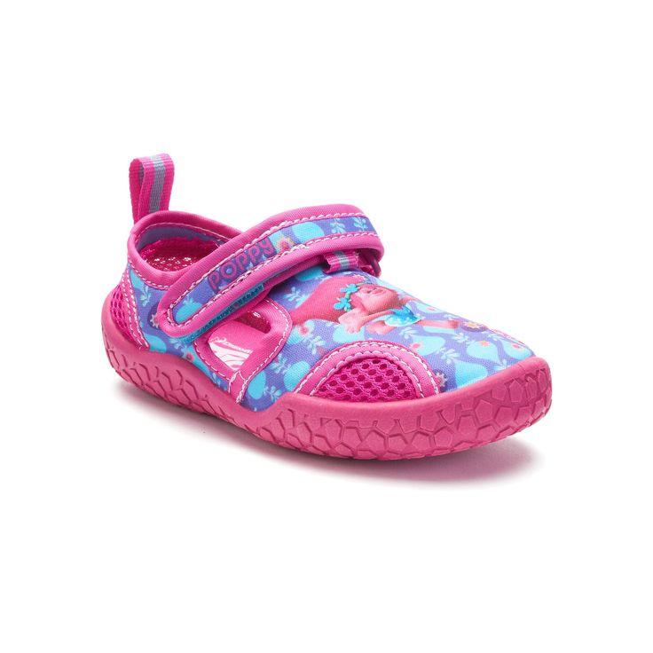 DreamWorks Trolls Poppy Toddler Girls' Water Shoes, Girl's, Size: 8 T, Purple
