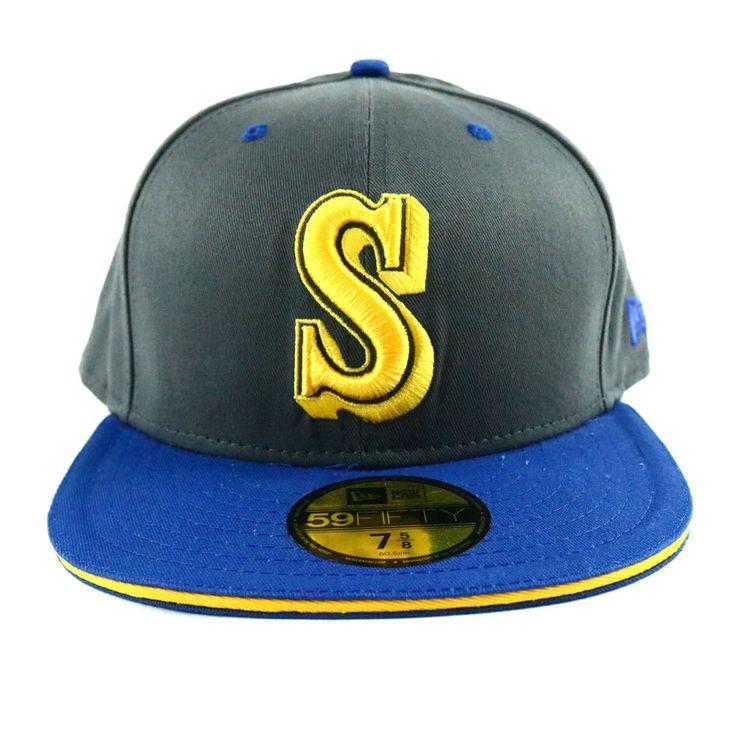 Seattle Marines Unisex New Era Cap Gray Blue Baseball Hat MLB Size 7 5/8 Fit #NewEra #SeattleMariners