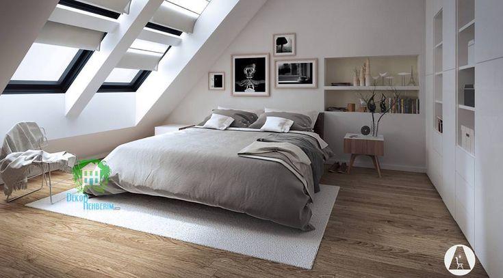 Birbirinden farklı çatı katı yatak odası örnekleri