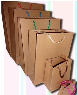 pasos para hacer bolsas con papel kraft