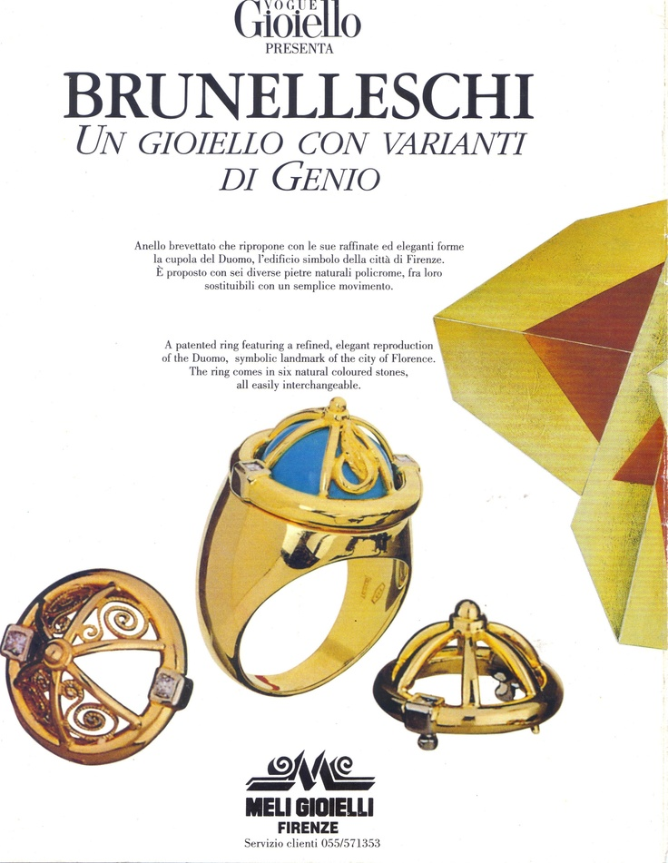 #MeliGioielli #Firenze on #Vogue #Gioiello with the #Brunelleschi patented #ring
