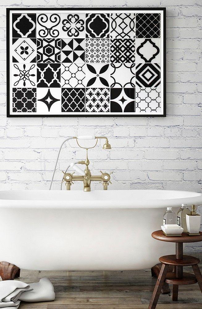 1000 id es sur le th me carrelage adhesif sur pinterest for La redoute tapis salle de bain