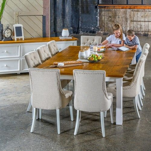 Tuscan 2500 Dining Package with Gallery Chairs (table: 2500W x 1500D x 775H mm; chairs: 560W x 660D x 990H mm) RRP $2,699