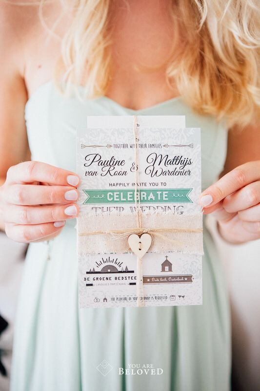 We designed our own weddinginvitations - Photo credit: You Are Beloved (http://www.youarebeloved.nl/)