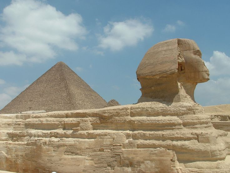 The Pyramids, Egypt    The Egyptian pyramids are massive monuments with a square base and four triangular sides rising up to a point. There is still a lot of curiosity (and many theories) as to how the pyramids were actually constructed.