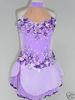 Custom Made to Fit Adorable Competition Ice Skating Dress | eBay