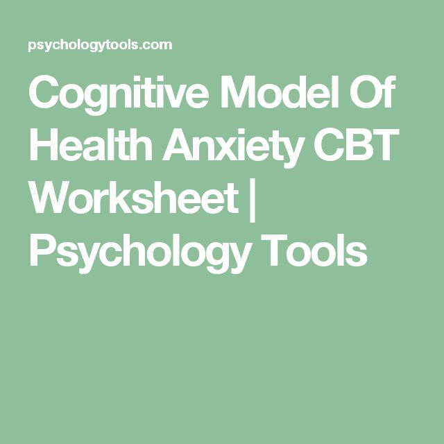 cbt for health anxiety pdf