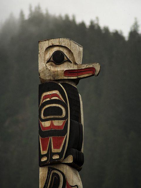 Pinned by indus® in honor of the indigenous people of North America who have influenced our indigenous medicine and spirituality by virtue of their being a member of a tribe from the Western Region through the Plains including the beginning of time until tomorrow. Totem, Hoonah, Alaska by LeventMagic, via Flickr