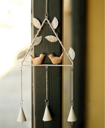 Apache™  Grocery-style Wrought Iron Bird Metal Wind Chime (coupon code 3offpin) #gardening #outdoor