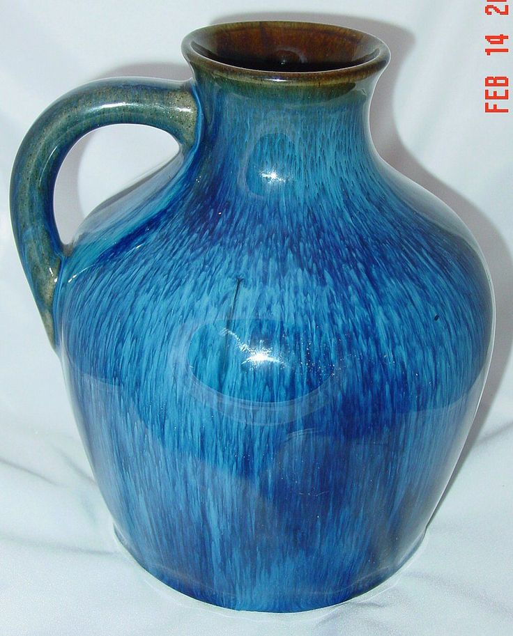 Danesby Ware Electric Blue Jug by Bourne Denby Pottery Ca 1930 from collettescollectibles on Ruby Lane
