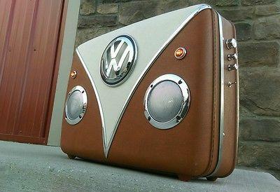 Gift (Upcycled VW Suitcase Speaker Box)