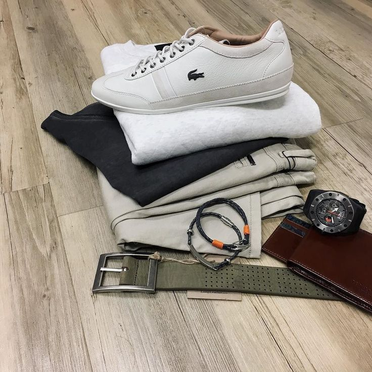 The all important details - all stock available in store now // G-Star jumper (on sale) Politix chinos Hugo Boss Orange label tee Lacoste trainers Ted Baker wallet and leather cuffs Otumm watch Loop leather belt.