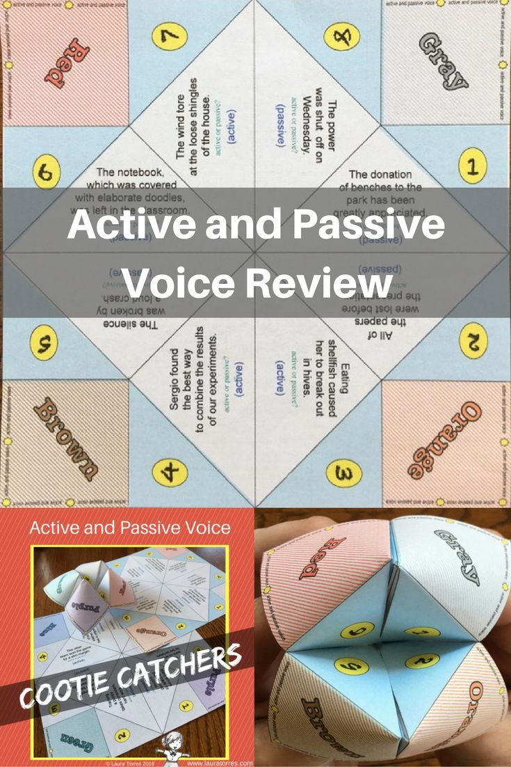 Passive and Active Voice Cootie Catchers | Teaching Ideas/Teaching ...