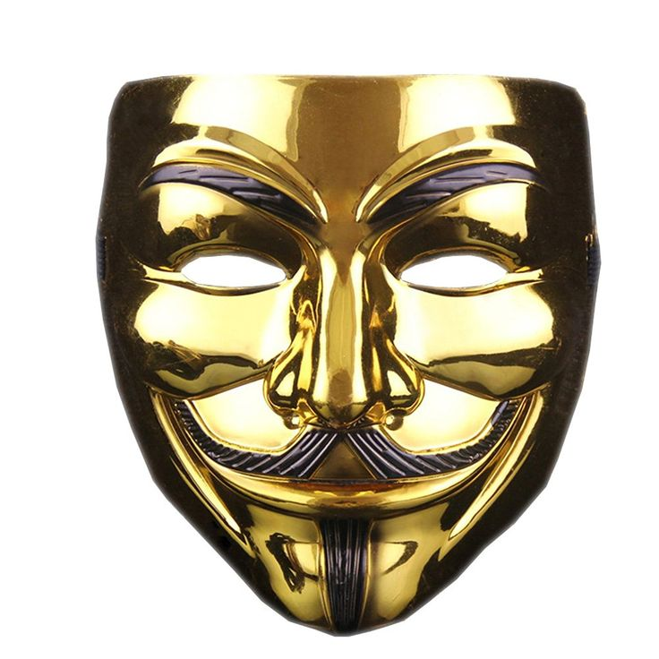 Masquerade hacker Mask cosplay V word Mask - Thickened -- Learn more by visiting the image link.