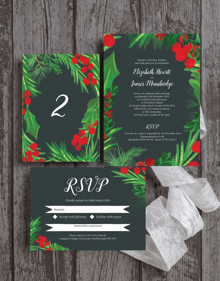 watch wedding invitation movie online eng sub%0A Beautiful winter berries wedding stationery  perfect for a festive    christmas   holiday   december wedding  With green holly   foliage and red  berries