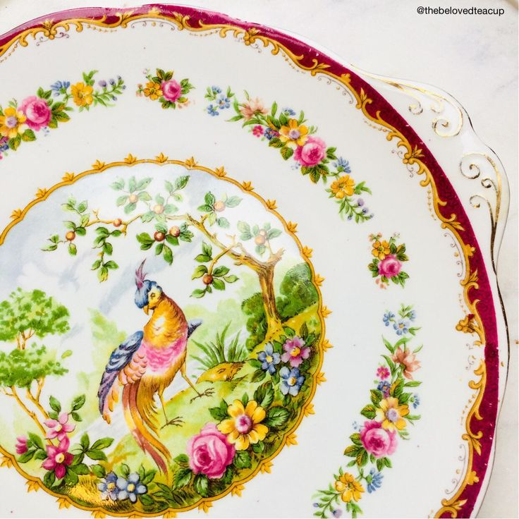 A personal favorite from my Etsy shop https://www.etsy.com/ca/listing/592738371/royal-albert-chelsea-bird-maroon-antique