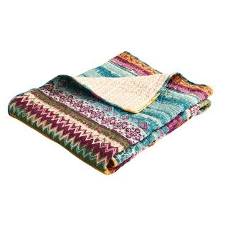 Shop for Greenland Home Fashions Southwest Reversible Quilted Cotton Throw. Free Shipping on orders over $45 at Overstock.com - Your Online Blankets