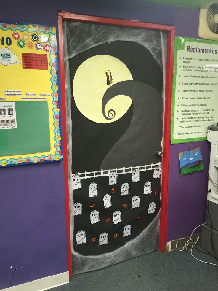 My Nightmare Before Christmas door for Halloween ...