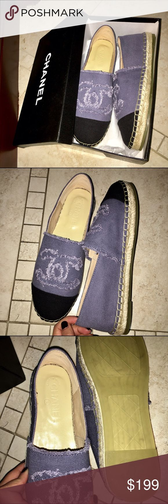💜 CHANEL ESPADRILLES 💜 I just purchased these for $300. They're brand new, never worn. These are the cutest espadrilles I own!! They're very comfortable, so whoever purchases these wins big! Enjoy ladies! 💋🔥 Bottom of the shoe states: size 39, made in Spain. ⚡️ NOTE: Price reflects authenticity!! So please don't ask!🔹 if you want these, comment so I can make you your own listing! CHANEL Shoes Espadrilles