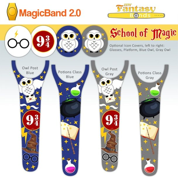 School Of Magic Harry Potter Inspired Harry Potter Decal Disney Magic Bands Fantasy Band