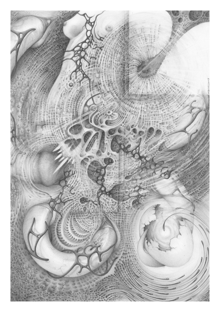 """""""Lust rages in search of love""""    A4 - Pencil  MBKKR 2013  #surreal #visionary #drawing"""