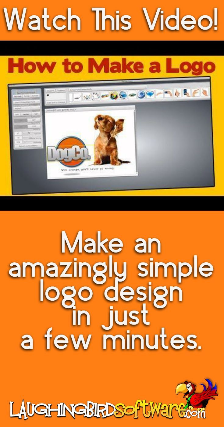 Learn how to make a logo or other graphic design in under 3 minutes. Simple graphics using professional templates... from Laughingbird Software