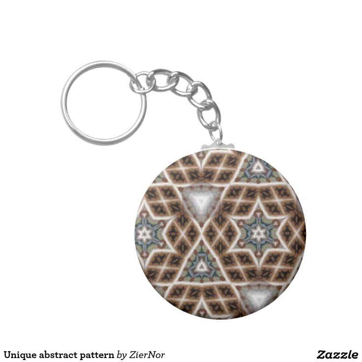 Unique abstract pattern basic round button keychain