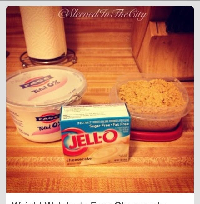 Weight Watchers Faux Cheesecake 1 - 16 oz tub of Fage 0% Plain Greek Yogurt 1…