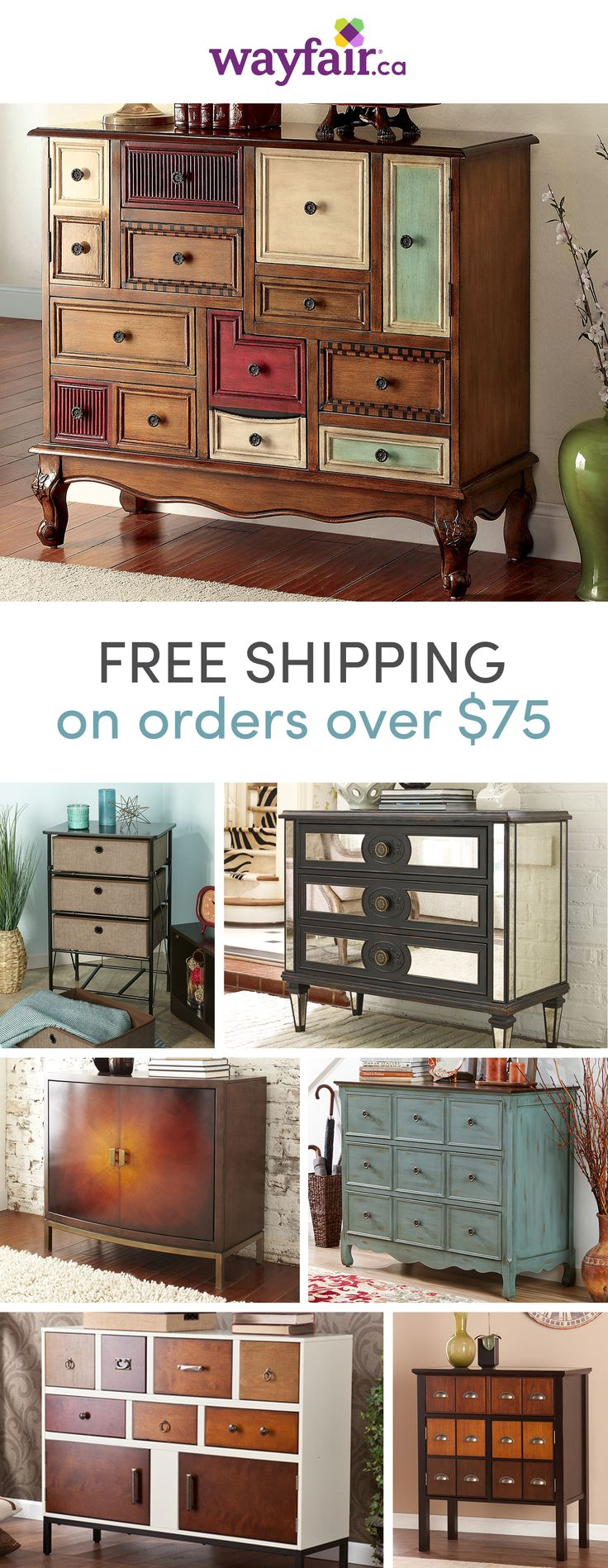 Storage, meet style. The perfect piece of home décor, accent chests are the perfect addition to your home, especially if you're working with small space. Show off your personal decorating skills while creating extra room to get organized with endless options of accent chests. Shop styles for every space at up to 70% OFF every day, and enjoy FREE shipping over $75 (even the big stuff!). Sign up to see more!