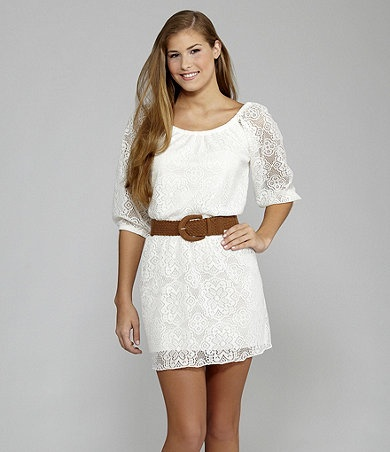 Cute lace dress ~ maybe shower or bachelorette party :) Available at Dillards.com