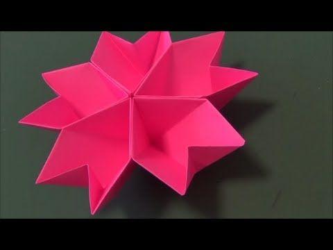 """「桜の器」折り紙""""The accessory case of a flower""""origami - YouTube ... - photo#6"""