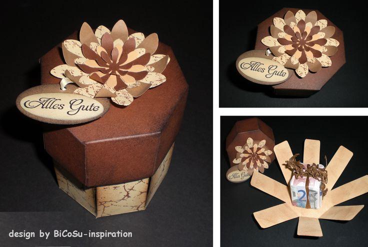 Geschenkbox / Springbox zum 25 Hochzeitstag bzw. Silberhochzeit --- Box to silver wedding  ---- slogan stamp is from stampin up