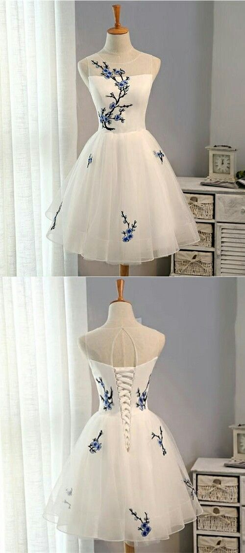 white homecoming dresses, lace up short prom dresses, openback short party dresses