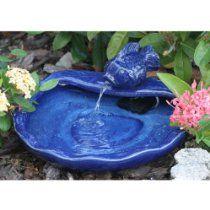 Smart Solar 21372R01 Ceramic Solar Koi Fountain Blue Glazed Finish  #rrrsirgo
