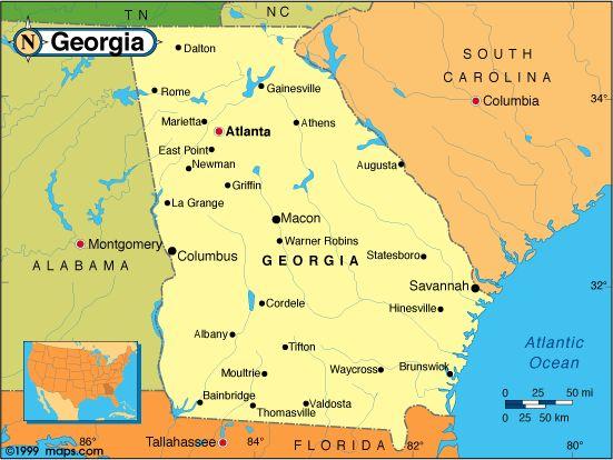 Georgia County Map Georgia Counties USA Reference Map Georgia