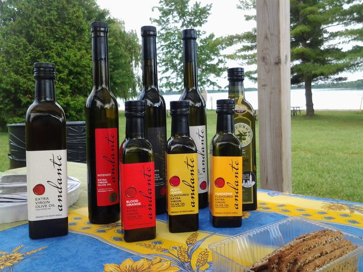 Al fresco tasting of Andante and Foxenburg olive oils at Guelph Lake. Great company and good food. What a treat!