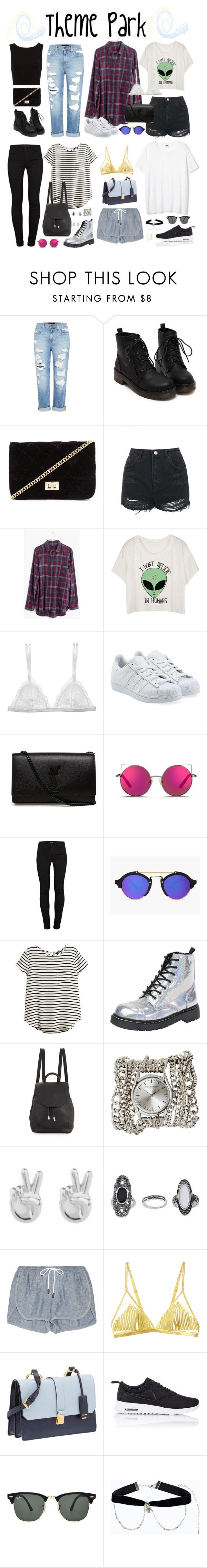 """Halsey-Inspired Theme Park Outfits"" by halseys-clothes ❤ liked on Polyvore featuring Genetic Denim, Forever 21, Topshop, Madewell, Curriculum Vitae, adidas Originals, Yves Saint Laurent, Matthew Williamson, J Brand and H&M"