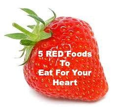 5 Red Foods to Eat for Your Heart @Mitzi Dulan- America's Nutrition Expert #HealthyFoods