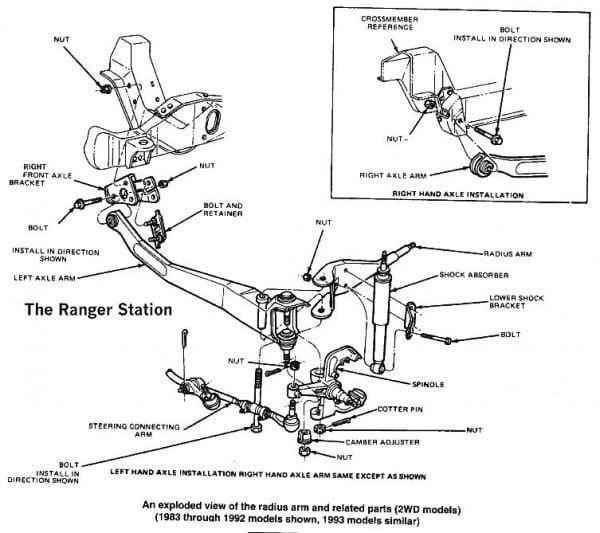 Ford Ranger Front Suspension Diagram
