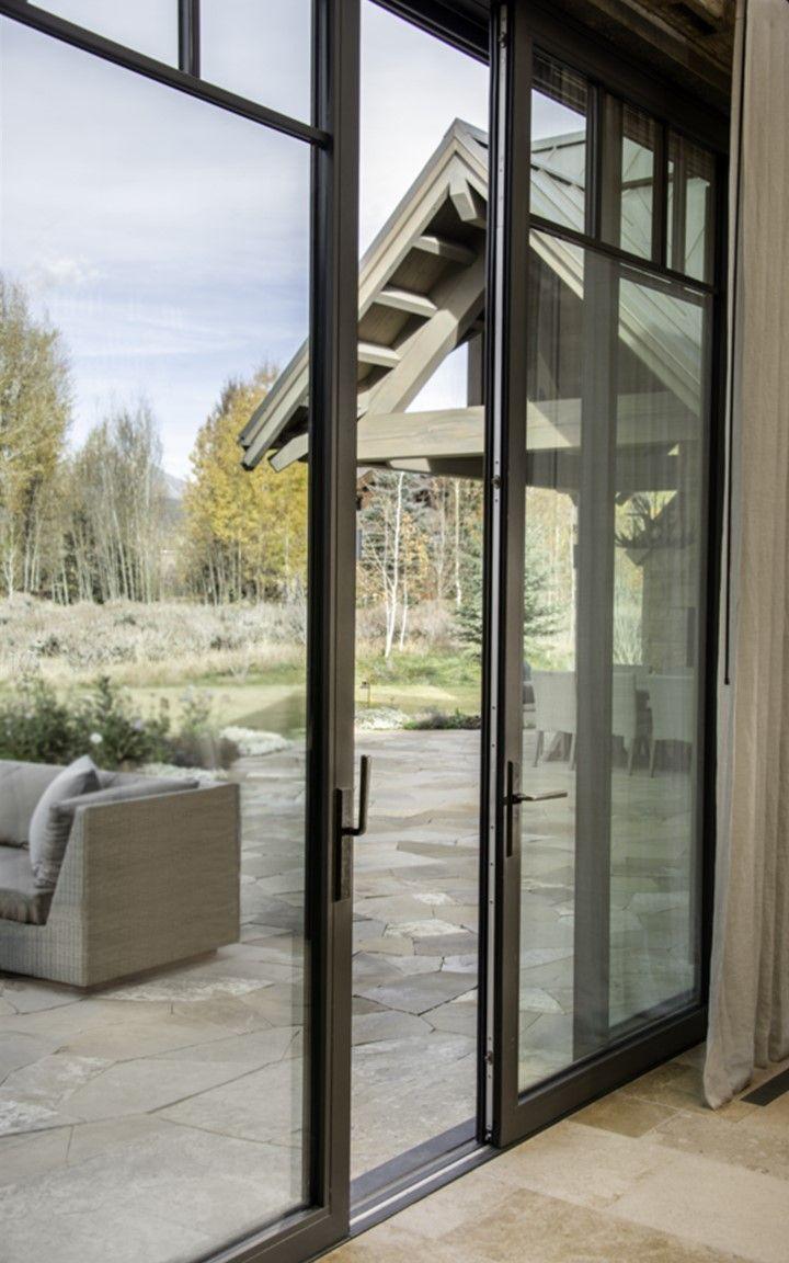 Citadel Lift And Slide Steel Sliding Doors Patio Residential Barn Style House Modern Farmhouse Exterior Modern Cabin