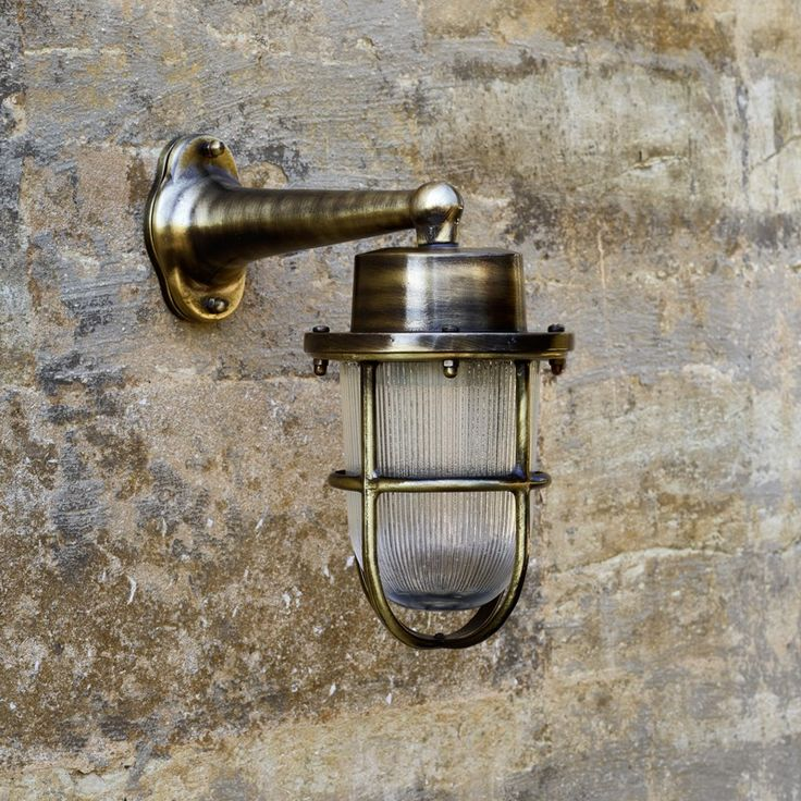David Hunt Harbour Outdoor Wall Light - Antique Brass
