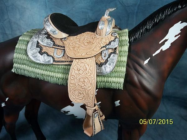 MH$P | Very Nice Western Silver Toned Saddle