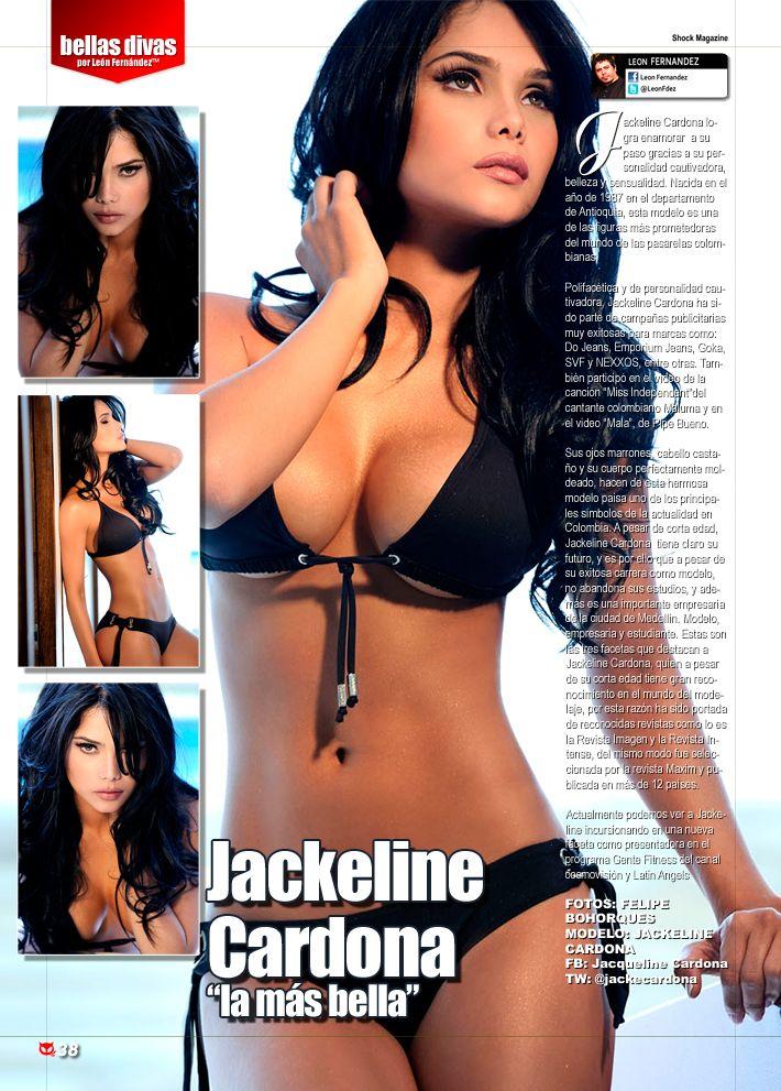 "Jackeline Cardona en ""bellas divas"" en Shock Magazine"