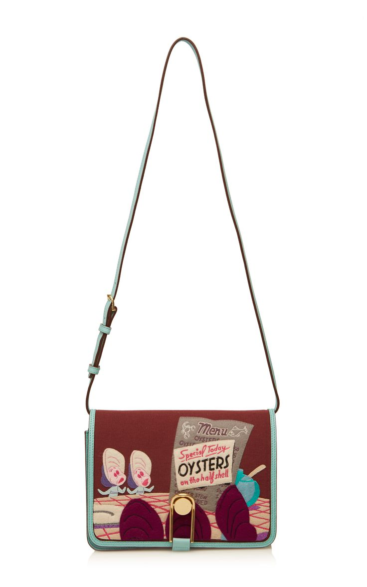 Oysters Leather Victoire Compartment Bag  - Olympia Le-Tan Resort 2016 - Preorder now on Moda Operandi